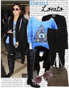 """Celebrity Style: Demi Lovato"" by straightuphustlergirl on Polyvore"