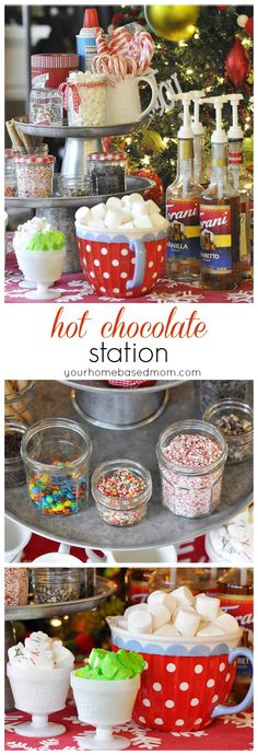 Hot Chocolate Station -- fun and easy to put together.
