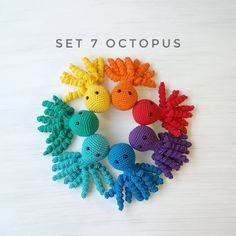 Octopus plush toy for preemie / Amigurumi animal sensory toys / eco friendly new baby gift / montessori toddler toys