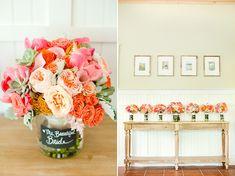 Eine wunderschöne Hochzeitsinspiration in sommerlichem Pfirsich | Friedatheres.com