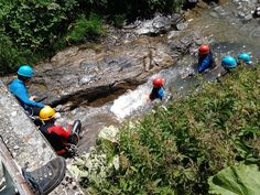 Mini Canyoning im Bregenzer Wald. Canyoning mit Kindern mit dem Murmele Bergerlebnispass Tour, Outdoor Power Equipment, Mini, Super, Camping, Europe, Father And Son, Photo Mural, Hiking Trails