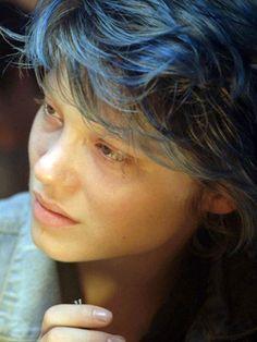 Resultado de imagen para Léa Seydoux blue hair