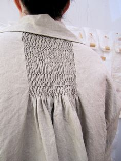 smocking! What a cool detail for Tunic Backs!