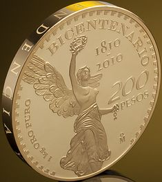 1 kg, Bicentennial of Mexico's Independence, gold, Banco de México