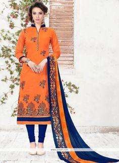 Amazing Embroidered Work Chanderi Churidar Suit Model: YOS8473