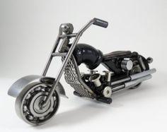 Sculpture en métal moto