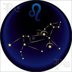 Leo Sign   Illustration of Zodiac Leo Sign