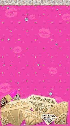 Pink lips n diamonds