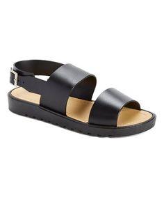 Black Vicki Sandal #zulily #zulilyfinds