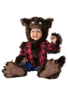Check out Baby Wee Werewolf Costume - Wholesale Animals Costumes for Babies, Infants & Toddlers from Wholesale Halloween Costumes Best Toddler Halloween Costumes, Animal Halloween Costumes, Toddler Costumes, Cute Costumes, Halloween Kostüm, Baby Costumes, Costume Ideas, Baby Wolf Costume, Couple Halloween