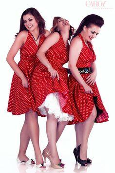 8075ae6081 Anne Red Polka Dots Dress: vintage style / pin-up / rockabilly knww-high  dress by TiCCi Rockabilly Clothing