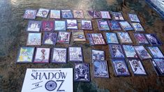 78 individual Miniature Shadow of Oz Tarot Cards, Beautiful designs, Handmade Tarot cards, a lovely addition to any dolls house, Major and Minor Cards. Fairy Furniture, Dollhouse Furniture, Doll Accessories, House Accessories, Personalized Gifts, Handmade Gifts, Wizard Of Oz, Tarot Cards, Gift Tags