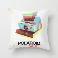 #Society6 #art #decor #Pillows Polaroid Sx-70 Land...
