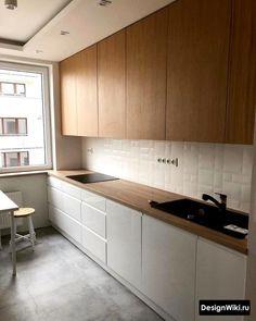 Simple Kitchen Design, Kitchen Room Design, Home Decor Kitchen, Interior Design Kitchen, Home Kitchens, Small Kitchen Renovations, Kitchen Remodel, Room Furniture Design, Kitchen Furniture