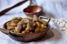 Riso con fagioli bianchi, funghi e patate