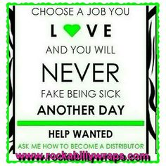 My company has exploded so quickly that I need some additional team members to help me. I am looking for individuals who are ready to change not only their lives but the lives of others too! Contact me if you: 1). Have $99 to purchase your business builder kit, 1st box of wraps & website. 2). Want to make a guaranteed minimum (by IGW) of $500 within 2 months. 3). Want to be qualified for the $10,000 bonus within 3 months. 4). Are tired of working for someone else, making them rich on their…