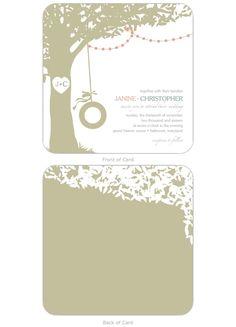 Shade Tree Rustic Wedding Invitation | Storkie.com