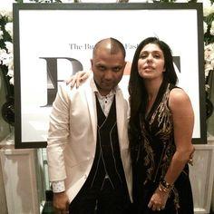 Gaurav Gupta and Anaita Shroff Adajania at the Business Of Fashion Party at The Leela, New Delhi in celebration of the #BoF500.