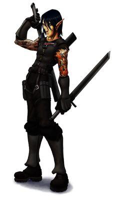 Shadowrun Elf ninja by ~DeuceOhNegative on deviantART