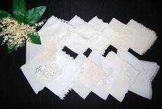 Vintage Hankie Bouquet of White & Ivory by CheekyVintageCloset, $34.50
