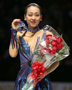 Skate America - Day Three DETROIT, MI - OCTOBER 20: Gold Medalist of the ladies free dance Mao Asada of Japan during day three at Skate America at Joe Louis Arena on October 20, 2013 in Detroit, Michigan. (Photo by Dave Reginek/Getty Images)