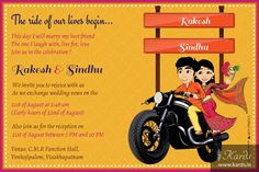 Kards: Unique Indian Invitations E-Cards Indian Wedding Invitation Wording, Engagement Invitation Cards, Marriage Invitation Card, Wedding Invitation Card Design, Indian Wedding Invitations, Creative Wedding Invitations, Invites, Personal Wedding Invitation, Scroll Invitation