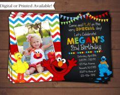 Elmo Invitation Elmo Birthday Invitation Sesame by ArtAmoris