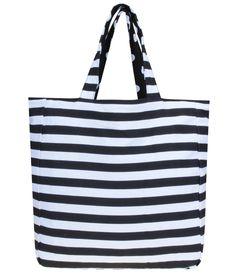 Bolsa de Praia Reversível Listrada - Lojas Renner Nautical Stripes, Fabric Bags, Printed Bags, Cloth Bags, Sewing Projects, Reusable Tote Bags, Diy Crafts, Canvas, Fashion Design