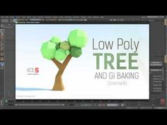 ▶ Tutorial: Low-Poly Paper Tree & GI Baking in Cinema 4D - YouTube