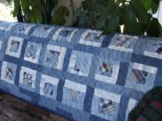 Denim Block Quilt Pattern - via @Craftsy