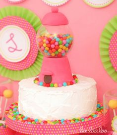 Bubble Gum Birthday Party-Cake