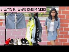 1 Denim skirt 5 ways to style: Denim Skirt Outfit Ideas - 5 ways to Wear & Style Denim Skirt 2018 Denim Skirt & denims are totally trending these days. Denim Skirt Outfits, Casual Outfits, Denim Fashion, Fashion Outfits, Fashion Tips, Denim Shirt, 5 Ways, Latest Fashion Trends, What To Wear