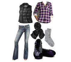 Black and Purple Outfit - Black and Purple Hiking shoes for heel pain - KURU Footwear