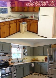 Diy amazing cabinet transformation just with some paint and lattice trim on the doors. Def need if we ever have ugly cabinets like that
