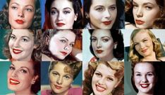Vintage makeup hollywood glamour lipsticks 41 ideas for 2019 Hair Styles For Women Over 50, Natural Hair Styles For Black Women, Short Hair Styles Easy, Short Hair Updo, 1940s Makeup, Retro Makeup, Vintage Makeup, Vintage Beauty, 1940s Hairstyles