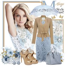 Feeling Blue...., created by sneky on Polyvore  Pretty!