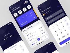 banking app Wallet App Exploration by Rochman Zaelani on Dribbble Web Design Icon, Mobile Ui Design, Dashboard Design, App Ui Design, User Interface Design, Form Design, Dashboard Mobile, Mobile App Ui, App Design Inspiration