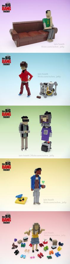 Personajes de The Big Bang Theory hechos con LEGO   Artista Iain Heath