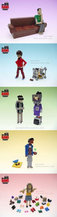 Personajes de The Big Bang Theory hechos con LEGO   Artista Iain Heath