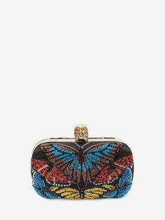 Shop Women's Beaded Butterfly Embroidered Classic Chain Clutch from the official online store of iconic fashion designer Alexander McQueen.