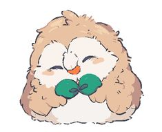 My cat ive had for 15 years died today i know this weird but can i have the fluffest rowlet possible Decidueye Pokemon, Pokemon Comics, Pokemon Fan Art, Pikachu, Pokemon Stuff, Animal Drawings, Cute Drawings, Neko, Cute Pokemon Wallpaper