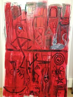 Scheibenwelt... Stick Figures, Concept, Red, Painting, Movies, Frida Kahlo, Atelier, Red Color, Mood