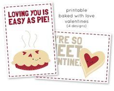 Baked with Love Printable Valentines | AllFreePaperCrafts.com
