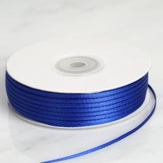 inch x 25 Yards Intricate Single Face Royal Blue Satin Ribbon Royal Blue Wedding Decorations, Ribbon Decorations, Blue Tablecloth, Wedding Tags, Simple Gifts, Blue Satin, How To Make Bows, Jewel Tones, Personalized Wedding