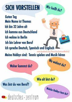 Apprendimebto Study German, Learn German, Learn English, German Grammar, German Words, German Resources, Deutsch Language, Learning Languages Tips, Germany Language