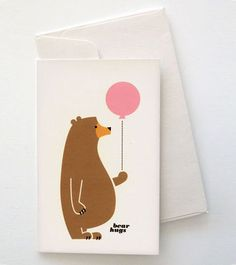 #illustration hehe so cute! He has a big fat belly! *squish* #bear #balloons