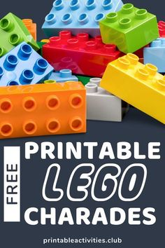 Need a way to keep your child occupied without screens?  Grab some LEGOs and these free LEGO game printables now! Sign up now and get access to 80+ printable activities to make your summer amazing! #printables #freeprintables #printablesummer #LEGOS# Quiet Time Activities, Lego Activities, Printable Activities For Kids, Outdoor Activities For Kids, Printable Crafts, Free Printables, Lego Challenge