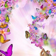 Purple Butterfly Floral Merchandise