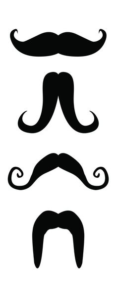 printable moustaches. {uses include: crafts, costumes, general mischief.}