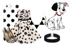 """""""101 Dalmations #4 (Kayla)"""" by tori-kaylabeauty ❤ liked on Polyvore featuring Kate Spade, GUESS, Christian Louboutin, Disney and ASOS"""